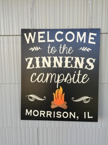 Our new camp sign designed by Ann and Allie. We are going to be the envy of the Campground!
